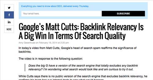 Backlink từ nguồn liên quan được Google đánh giá rất cao