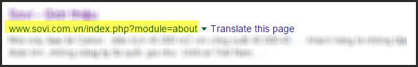Nếu che đi tiêu đề và mô tả, nhìn vào URL chưa tối ưu bạn sẽ không hiểu được URL đang nói về cái gì
