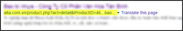 Tương tự một kiểu URL chưa tối ưu